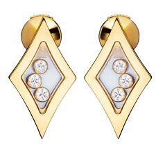 Chopard Happy Diamonds Yellow Gold Earrings 83/5795 Brand New $5,000 Retail!!!