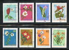 North Vietnam Complete Used (CTO) Set #755-762 Medicinal Plants Stamp