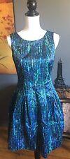 ZARA BASIC Women's  Lined Dress Blue M