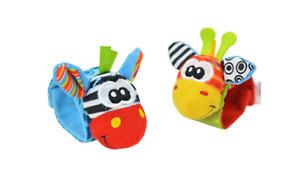 2PCS Baby Wrist Bands ONLY Toddler Rattle SOUNDS Rattling Sensory Socks Child UK