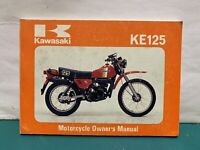 Kawasaki KE 125 A8 Betriebsanleitung Fahrer Handbuch owner´s manual