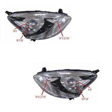 For Nissan Micra K13 Hatchback 9/2013-> Black Headlights Lamps 1 Pair O/S & N/S