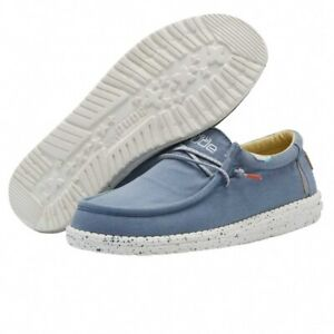 Hey Dude Shoes   Wally Washed UK 7/8/9/10/11/12   100% GENUINE   Free Delivery