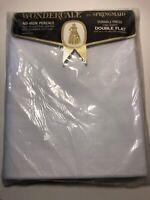 Vintage NOS Springmaid Wondercale Percale No Iron Full Flat Sheet White 81 X 104