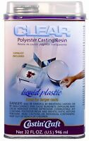 Environmental Technology Clear Casting Resin With Catalyst 32 Ounce