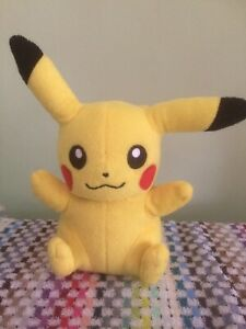 "Official 8"" Pikachu Pokemon Soft Plush Toy TOMY used"