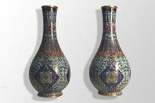 paire de vase en cloisonné Chinois XIXème