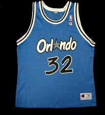 CHAMPION SHAQ ORLANDO MAGIC  BLUE NBA O'NEAL JERSEY 32 SHIRT NICE! 48