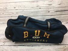 Vintage B.U.M XXL Equipment Travel Strap Embroidered Blue Duffle Luggage 90 Bag