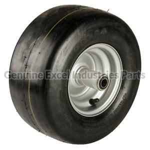 New Genuine OEM Hustler 13x6.50-6 Silver Pneumatic Tire / Wheel Assembly 604717