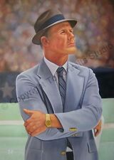 Tom Landry, Dallas Cowboys - Original Hand Painted Poster Oil Painting on Canvas
