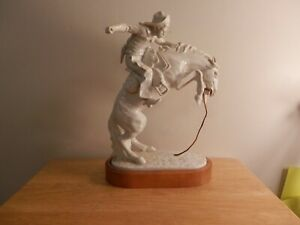 """Gift World of Gorham Statue of Remington's Famous Bronze Sculpture """"Bronc Buster"""