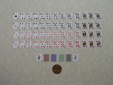 Miniature Playing Cards, 1:6 Play Scale, with Red Backings