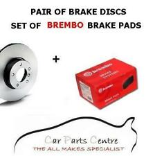 FOR HONDA ACCORD 2.2 TYPE R FRONT 300mm VENTED BRAKE DISCS + BREMBO PADS