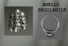 ANELLO TESCHIO SKULL REGOLABILE  trendy anello TESCHIO MANO ring skull