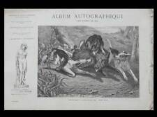 ALBUM AUTOGRAPHIQUE 1867 - JADIN, HARPIGNIES, BAUDIT, BERTHELEMY, CHINTREUIL