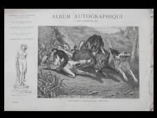 ALBUM AUTOGRAPHIQUE 1867 - JADIN, HARPIGNIES, BAUDIT, BERTHELEMY, CHINTREUIL