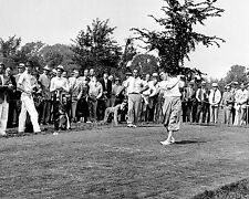 Lawson Little teeing off during the 1935 U.S. Amateur