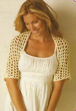 Crochet Pattern ~ LADIES BAMBOO SHRUG ~ Instructions