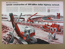 1956 Blh Construction Equipment Interstate Highway Project vintage print Ad