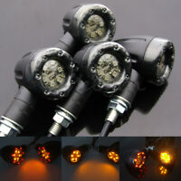 4X 12LED Universel Clignotant Moto Indicateur Lumineux ambre Amber eclairage FR