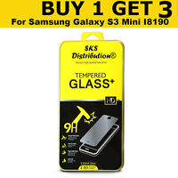 100% GENUINE TEMPERED GLASS SCREEN PROTECTOR FOR Samsung Galaxy S3 Mini I8190