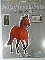 Rivers Edge Products Bay Horse Auto Truck Magnetic Art Non-Adhesive Removable