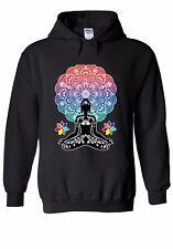Yoga Buddha Chakra Meditation Zen Men Women Unisex Top Hoodie Sweatshirt 1516