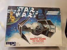 Original Vintage Star Wars Darth Vader Tie Fighter Model Kit MPC ERTL