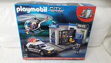Playmobil 5607 City Action Polizei Set Hubschrauber Polizeiauto Licht NEU & OVP