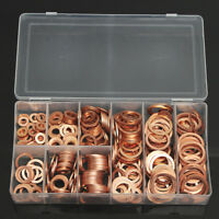 400PCS Metric Copper Washer Assortment Kit Mechanic Electrician Sump Plug M6-M22