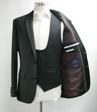 Herren Sawyers & Hendricks Figurbetonende Form schwarz Blazer & Weste (40r)... ref: 6761