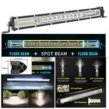 "13"" 200W 20000LM 6500K Spot Flood Combo Beam Car SUV Off-road LED Work Light Bar"