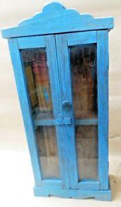 Remade Wood Almira Double door wall mount display cabinet handy medical storage