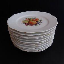 12 assiettes plates dessert porcelaine WG & CO Limoges France art nouveau N3912