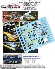 DECALS 1/24 REF 3 RENAULT MEGANE MAXI DE MEVIUS RALLYE RAC RALLY 1996 WRC