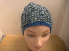 Vince Camuto Medieval Blue Space Dye Beanie w/Contrast Color Cuff Hat 9x8 NWT