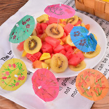 50X Colorful Mixed Paper Cocktail Drink Umbrellas Parasols Picks Party Drinks JH
