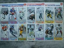1993 McDonald's Nfl Football Gameday Collector Cards 3 Uncut Sheets (A B and C)
