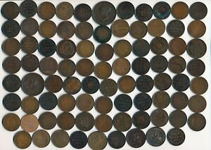 86 OLD CANADA LARGE CENTS & TOKENS (COLLECTIBLES) > SEE IMAGES > NO RESERVE