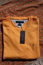 TOMMY HILFIGER orange Sweater Pullover V-Neck XL NEU!