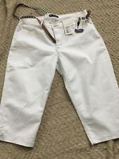 Lee Women Mid Rise Fit Skimmers Size 14 Medium, White Color Just Below The Waist