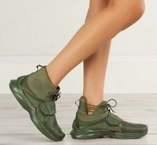 PUMA X Rihanna Fenty Trainer Hi Shoe BOOTS Size 8 Womens Green 190398 02 68e288f6f