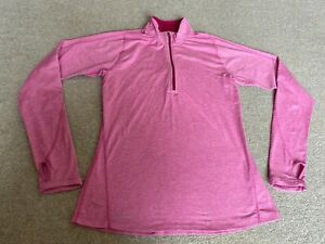 NIKE ELEMENT WOMEN`S PINK LONG SLEEVE RUNNING TOP SIZE S