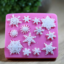 Snowflake Silicone Mold Chocolate Candy Ice Cube Cake Fondant  Party Favors