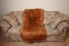 Orange Goat fur blanket luxury mexa throw comfort softness best quality gift