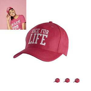 3 Brand New Cancer Research Pink Ladies race for life baseball caps 28797