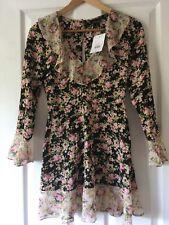 Top Shop True Romance Tea Dress Size 6 Petite Brand New
