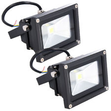 2 x 10W LED Floodlight: 900 Lumens Security Garden Send Garage Light Sensor Lamp