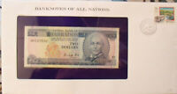 Banknotes of All Nations Barbados 2 Dollars 1986 P 36 King UNC Prefix H